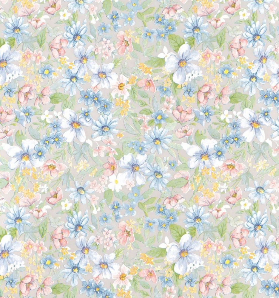 45cm Romantic Flower Print Sticky Vinyl Fablon (200-2403) Cut to size from 1 to 15 metres